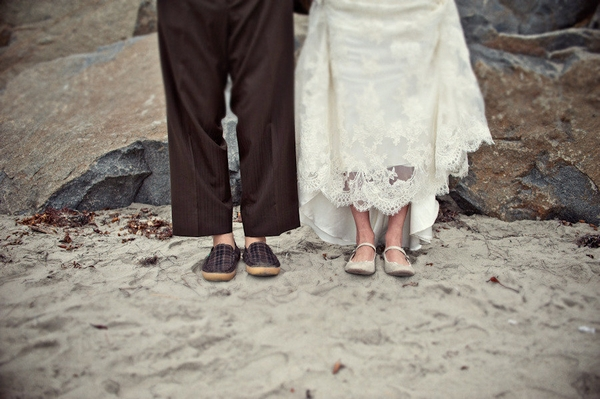 Bride and groom's shoes - Picture by Captured by Aimee