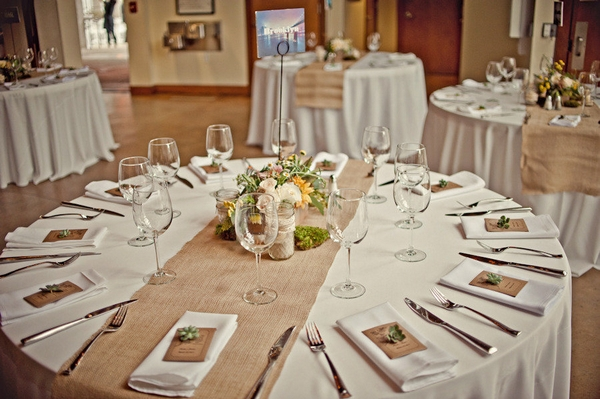 Wedding breakfast table - Picture by Captured by Aimee