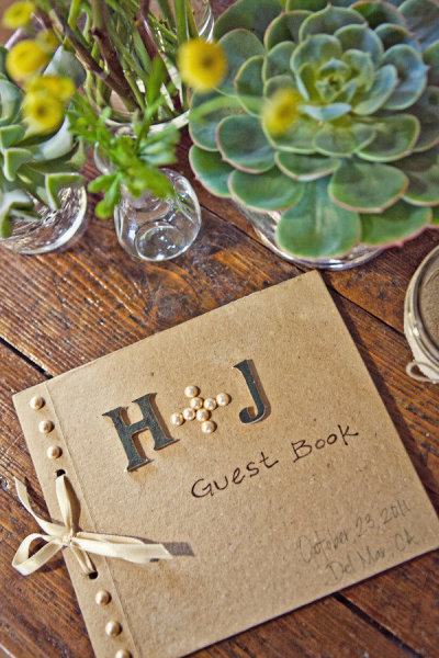 Wedding guest book - Picture by Captured by Aimee