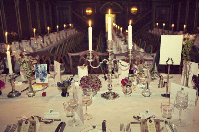 Candlelit wedding table display - Picture by Laura McCluskey Photography