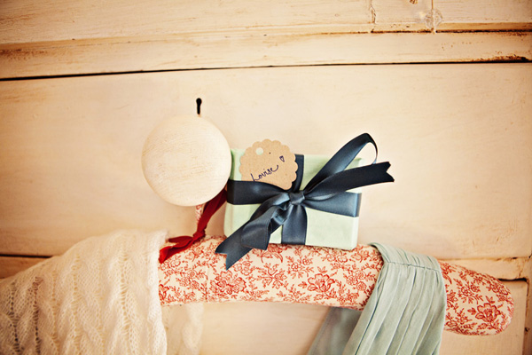 Small wedding gift on coat hanger - Picture by Andrew J R Squires Photography