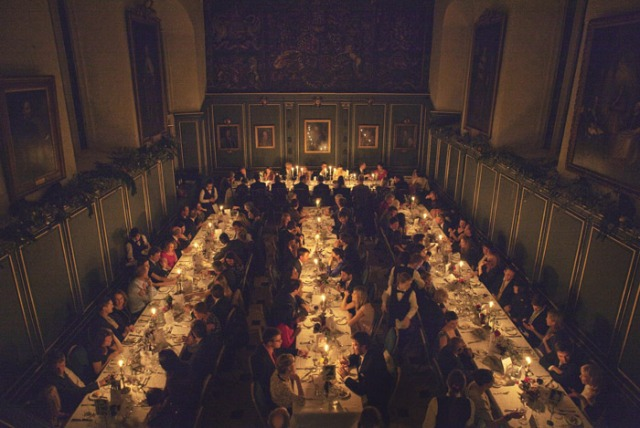 Candlelit wedding breakfast - Picture by Laura McCluskey Photography