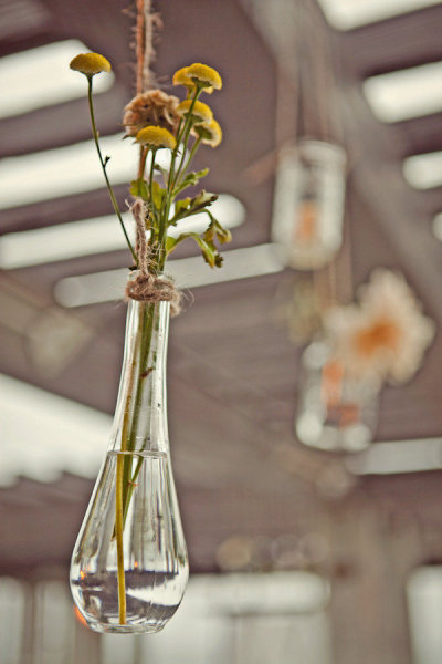 Haning vase of lowers - Picture by Captured by Aimee