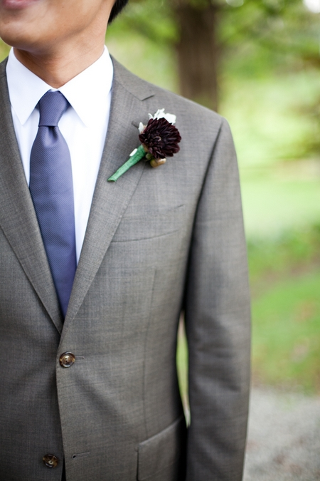 Buttonhole on suit - Picture by Levi Stolove Photography