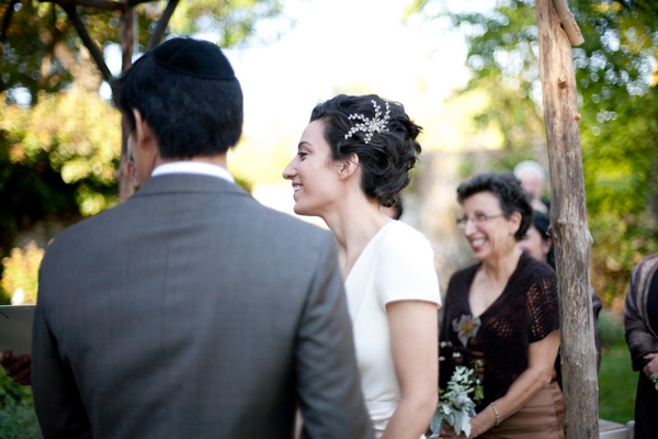 Bride and groom at wedding ceremony - Picture by Levi Stolove Photography