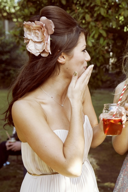 Bridesmaid holding wedding drink - Picture by Ian Shoots Weddings