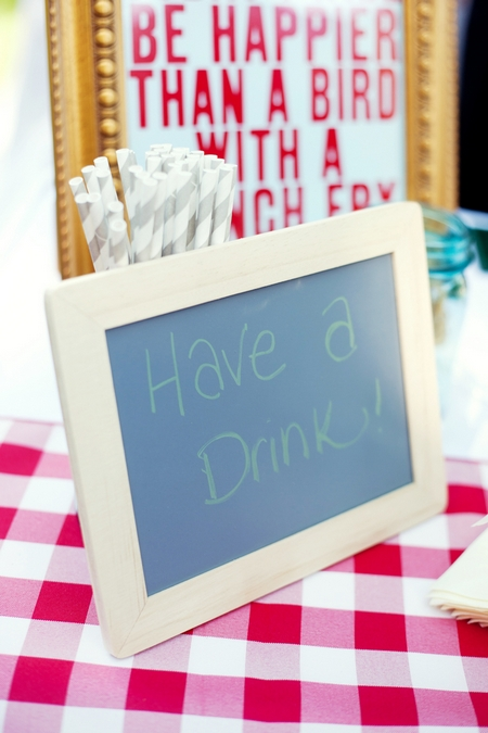 Have a drink chalkboard sign - Picture by Laura Ivanova Photography