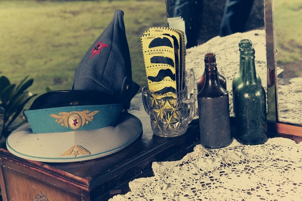 Vintage wedding props - Picture by Ian Shoots Weddings