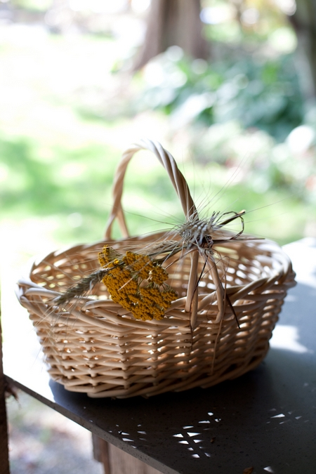 Wicker basket - Picture by Levi Stolove Photography
