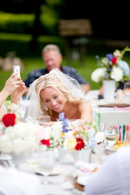 Bride at wedding breakfast - Picture by Laura Ivanova Photography