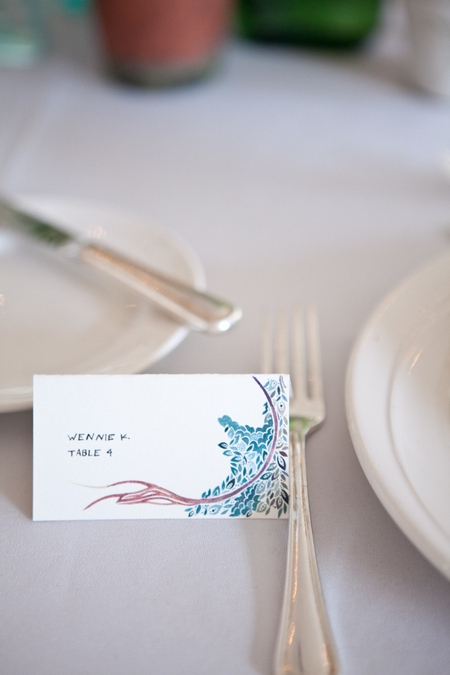 Wedding place card on table - Picture by Levi Stolove Photography