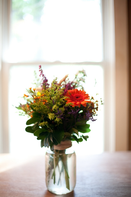 Jar of flowers - Picture by Levi Stolove Photography
