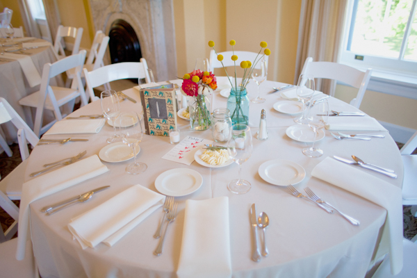 Wedding breakfast table - Picture by Rojo Foto Design