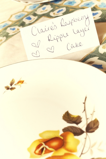 Homemade cake sign - Picture by Ian Shoots Weddings