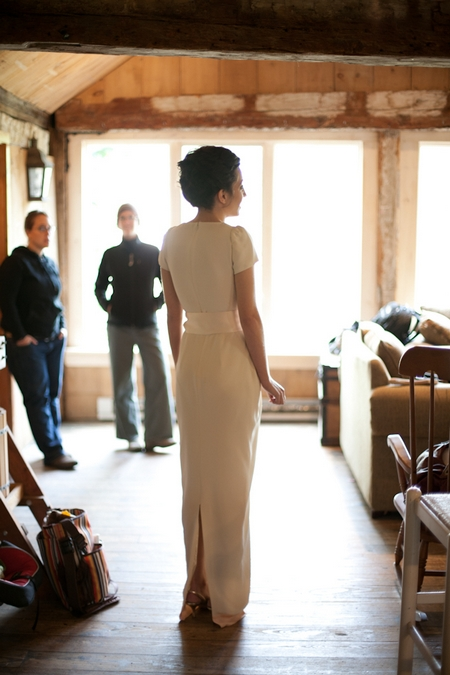 Bride in her wedding dress - Picture by Levi Stolove Photography