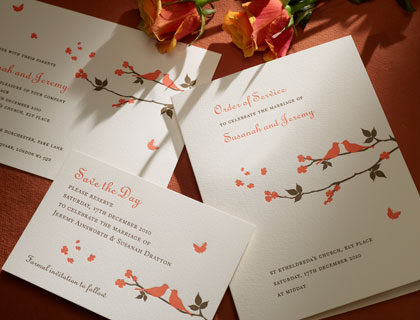 Carolinian wedding stationery from The Letter Press of Cirencester