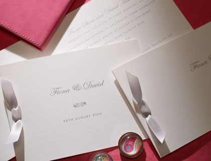 New York wedding stationery from The Letter Press of Cirencester