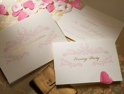 Rococo wedding stationery from The Letter Press of Cirencester