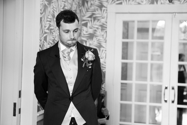 Nervous groom - Picture by Hayley Ruth Photography