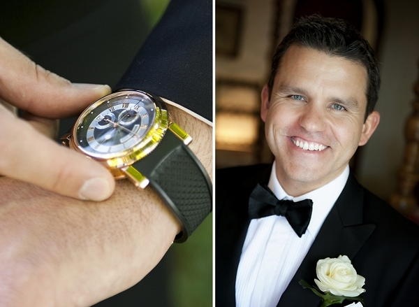 Watch and groom - Picture by Gill Maheu Photography
