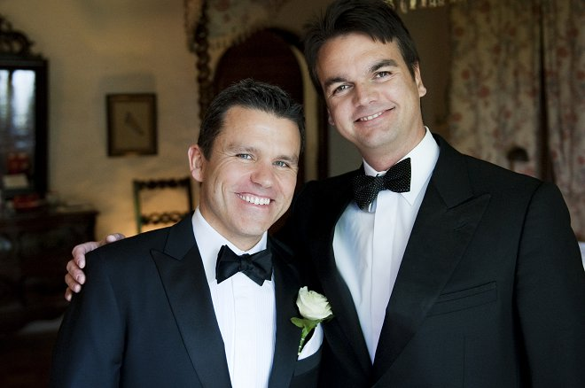 Groom and best man - Picture by Gill Maheu Photography