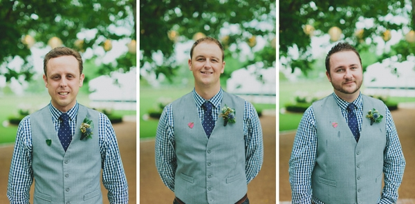 Groomsmen wearing checked shirts - Picture by Jonas Peterson Photography