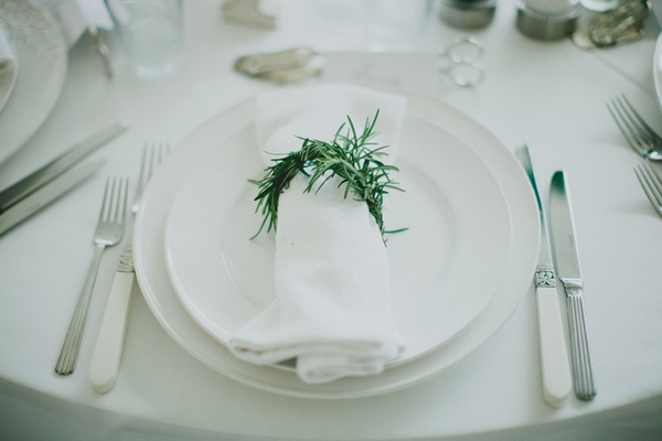 Napkin wrapped with rosemary - Picture by Jonas Peterson Photography