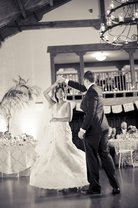 Bride and groom first wedding dance - Picture by Allyson Magda Photography