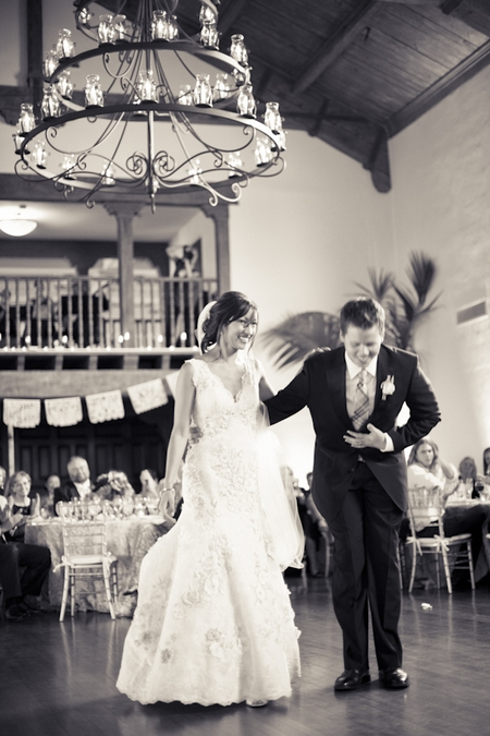 Bride and groom bow after wedding dance - Picture by Allyson Magda Photography