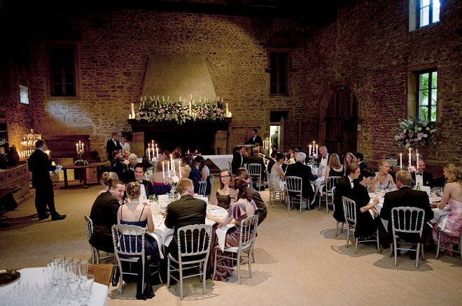 Wedding breakfast at Chateau de Bagnols - Picture by Gill Maheu Photography