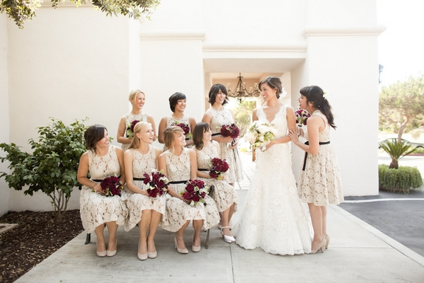 Group of bridesmaids - Picture by Allyson Magda Photography