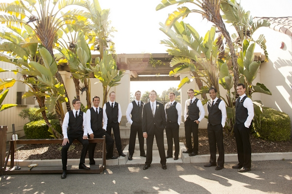 Groomsmen standing in a line - Picture by Allyson Magda Photography