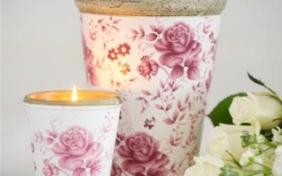 Floral Candle Pots by St Eval Candle Company