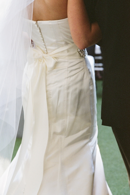 Bride being led into wedding ceremony - Picture by Yvette Roman Photography