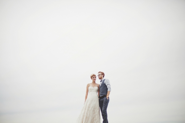 Bride and groom with sky in background - Picture by Josh Dookhie Photography