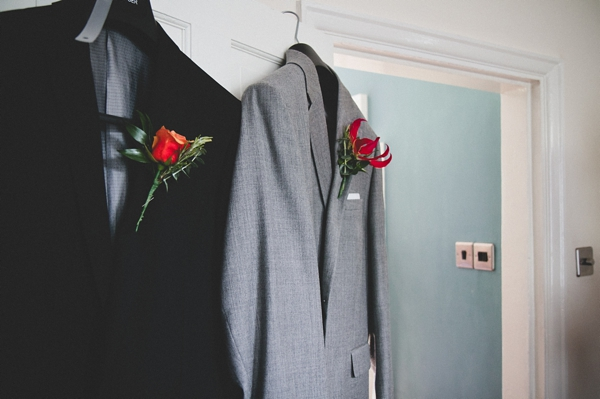 Wedding suits hanging - Picture by McKinley-Rodgers Photography