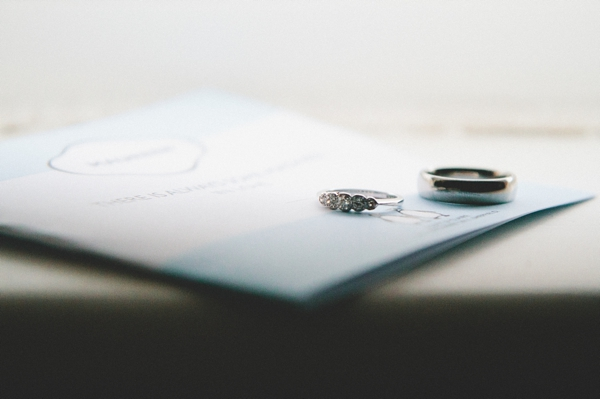 Wedding rings on order of service - Picture by McKinley-Rodgers Photography