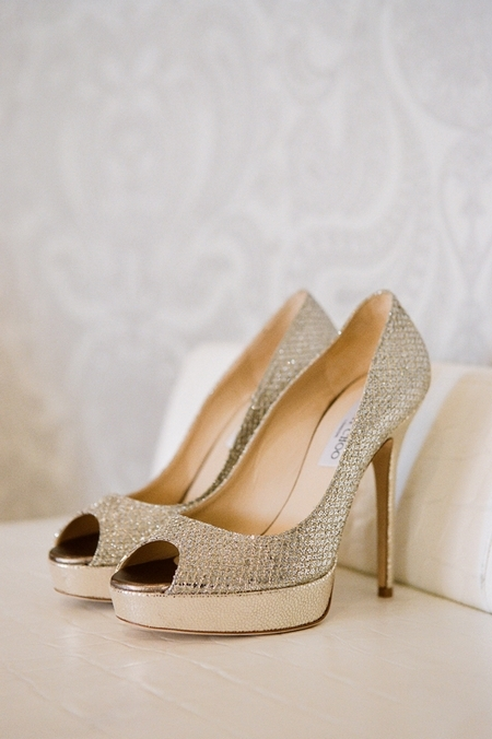 Jimmy Choo wedding shoes - Picture by Yvette Roman Photography
