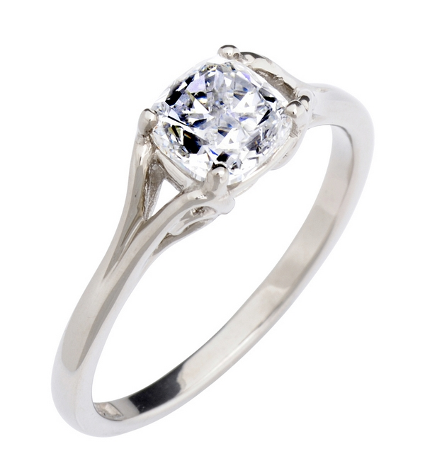 1ct Vintage Cushion-Cut Ethical Engagement Ring from CRED Jewellery