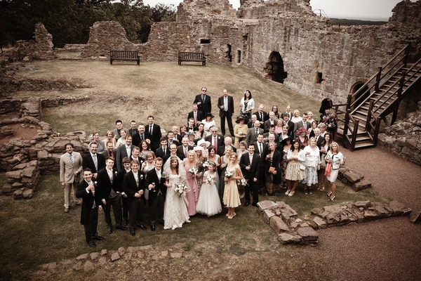 Wedding party at Dirleton Castle - Picture by Archibald Photography