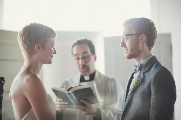 Bride and groom with vicar - Picture by Josh Dookhie Photography