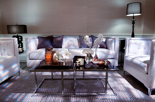 Sofas at The London Hotel in California - Picture by Yvette Roman Photography