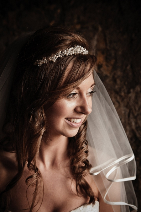 Bride smiling - Picture by Archibald Photography