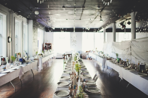 Rows of tables at wedding reception - Picture by Josh Dookhie Photography
