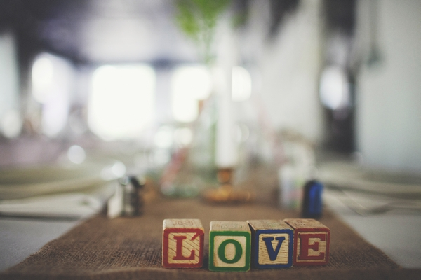Blocks spelling out Love - Picture by Josh Dookhie Photography