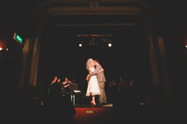 Bride and groom kiss after wedding ceremony - Picture by McKinley-Rodgers Photography