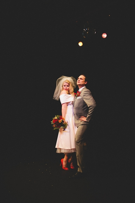 Bride and groom in funny poses - Picture by McKinley-Rodgers Photography