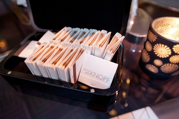 Personalised wedding matches - Picture by Yvette Roman Photography