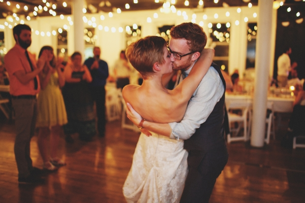 Bride and groom kissing during first dance - Picture by Josh Dookhie Photography