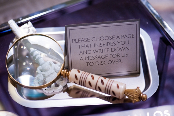Magnifying glass for wedding guest book - Picture by Yvette Roman Photography